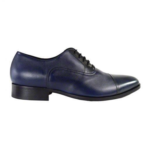 Pantofi din piele bleumarin nappa