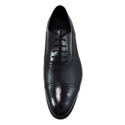 Pantofi din piele negru vitello, pentru barbati, cu talpa din piele-46118E120-II