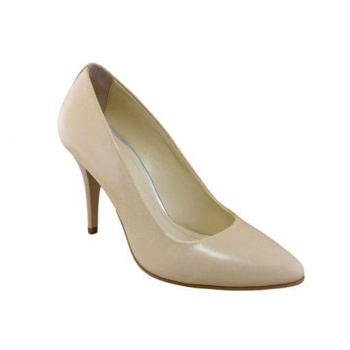 Pantofi stiletto din piele nude, cu toc de 9 cm-794T-II