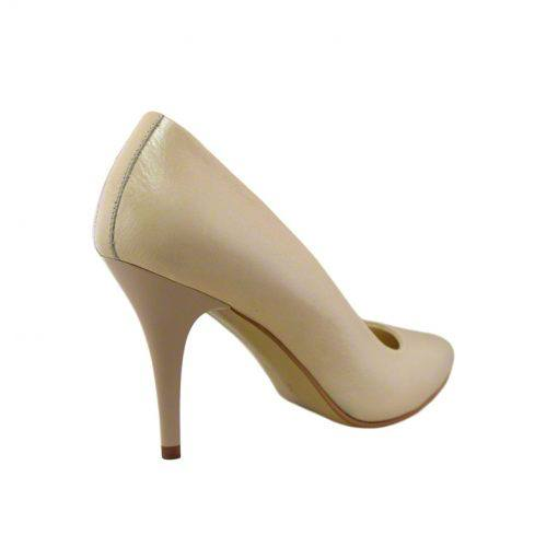 Pantofi stiletto din piele nude, cu toc de 9 cm-794T-III
