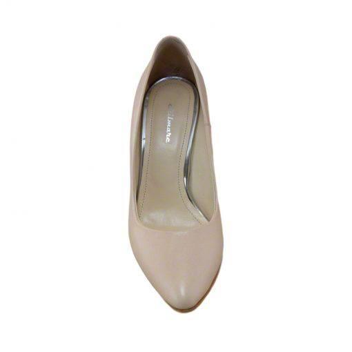 Pantofi stiletto din piele nude, cu toc de 9 cm-794T-IV