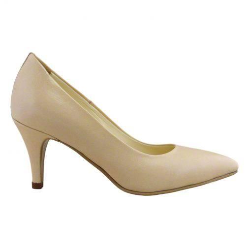 Pantofi stiletto din piele nude, cu toc subtire de 7 cm-1521T-I