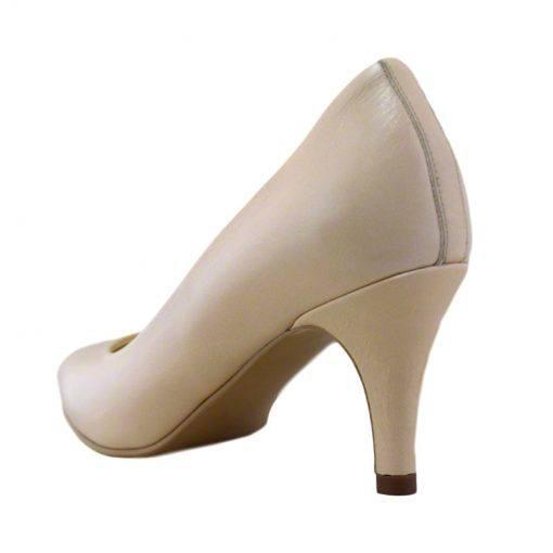 Pantofi stiletto din piele nude, cu toc subtire de 7 cm-1521T-III
