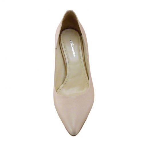Pantofi stiletto din piele nude, cu toc subtire de 7 cm-1521T-IV