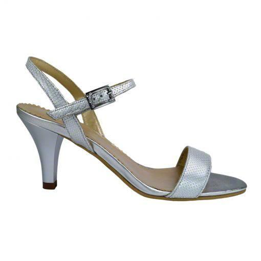 Sandale din piele argint picatele