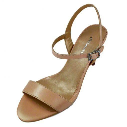 Sandale din piele nude, cu toc de 7 cm-420ST-II