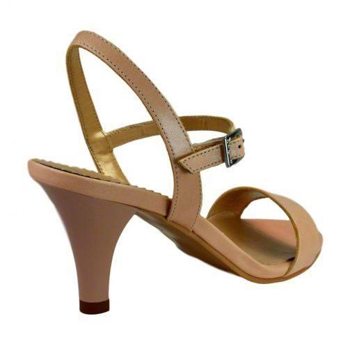 Sandale din piele nude, cu toc de 7 cm-420ST-III