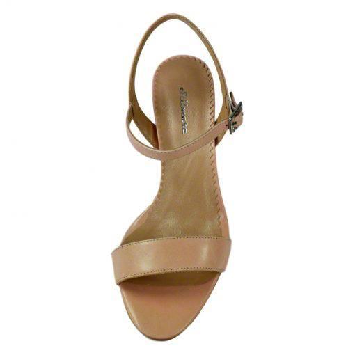 Sandale din piele nude, cu toc de 7 cm-420ST-IV